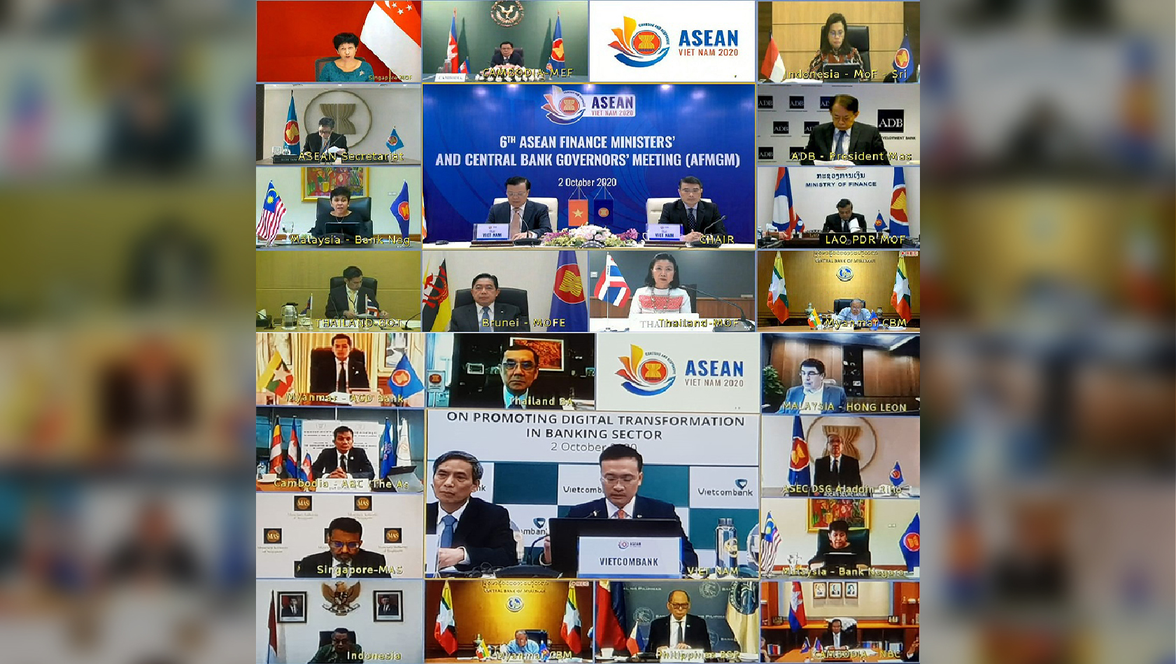 Joint Statement of the 6th ASEAN Finance Ministers' and Central Bank Governors' Meeting (AFMGM) October 02, 2020